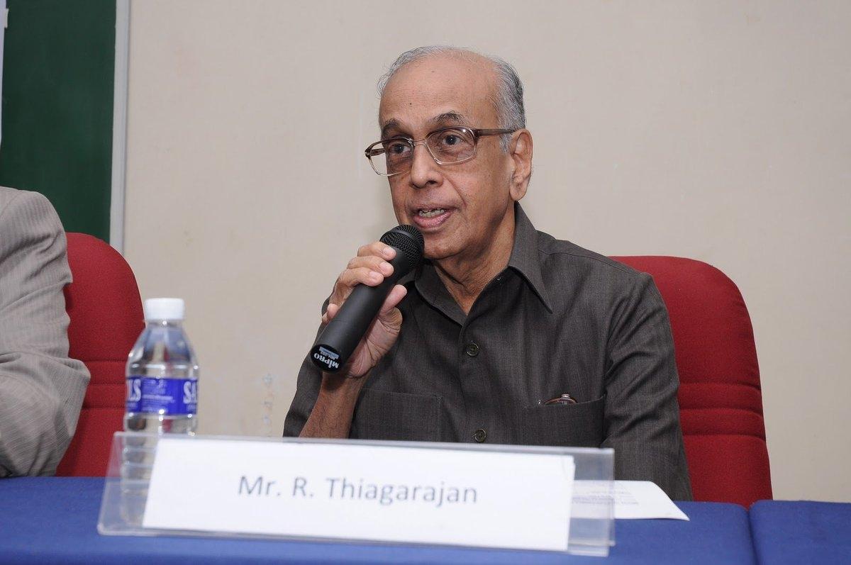 R. Thyagarajan founder of Shriram Transport Finance Co Ltd.
