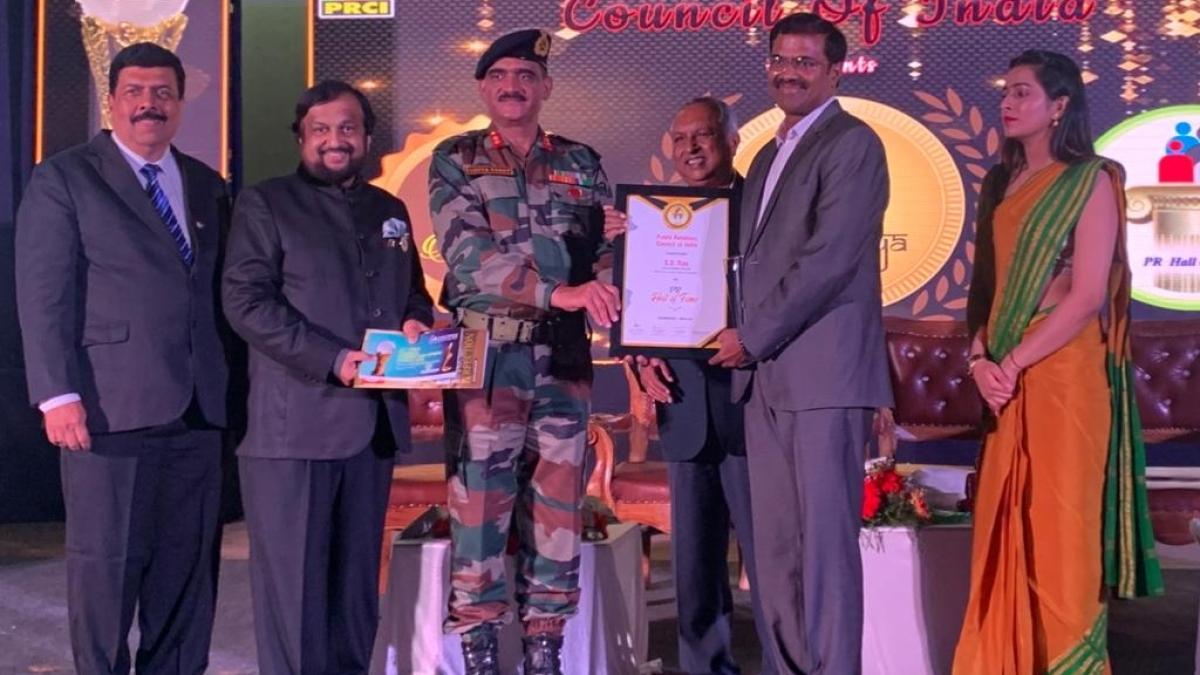 S S Rao, Sr. GM (PR), PFC conferred 'Hall Of Fame 2020' Award