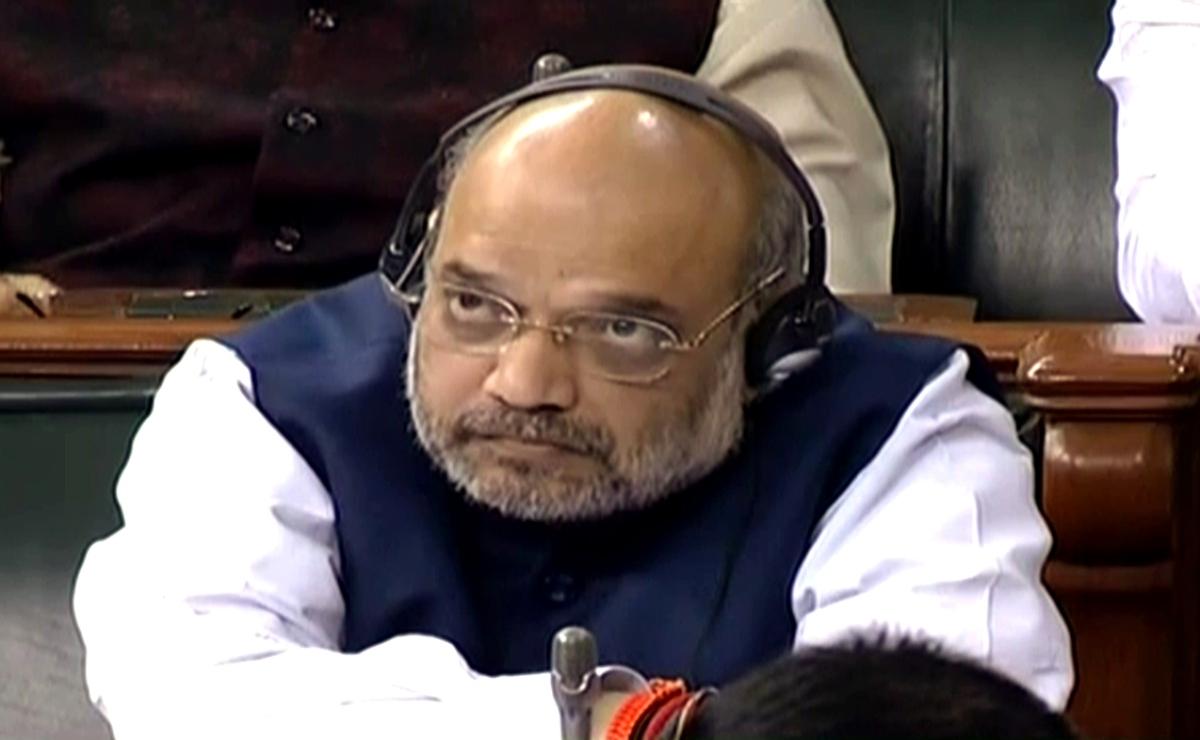 Amit Shah in the Lok Sabha on Wednesday