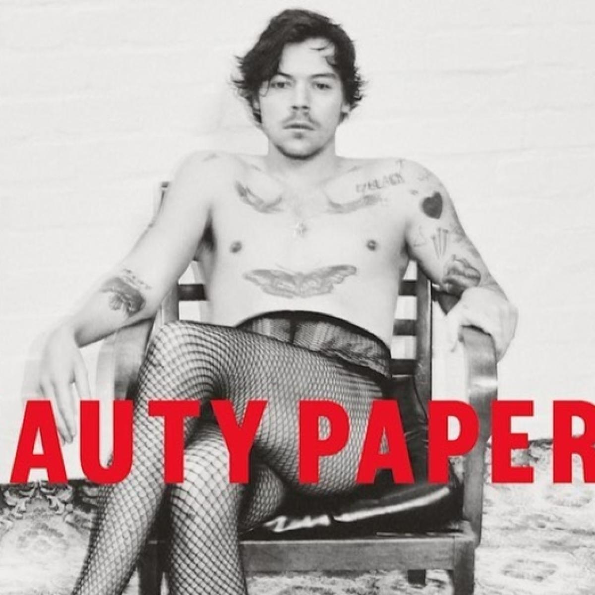 Harry Styles' picture wearing nothing but fishnet stockings crashes magazine website