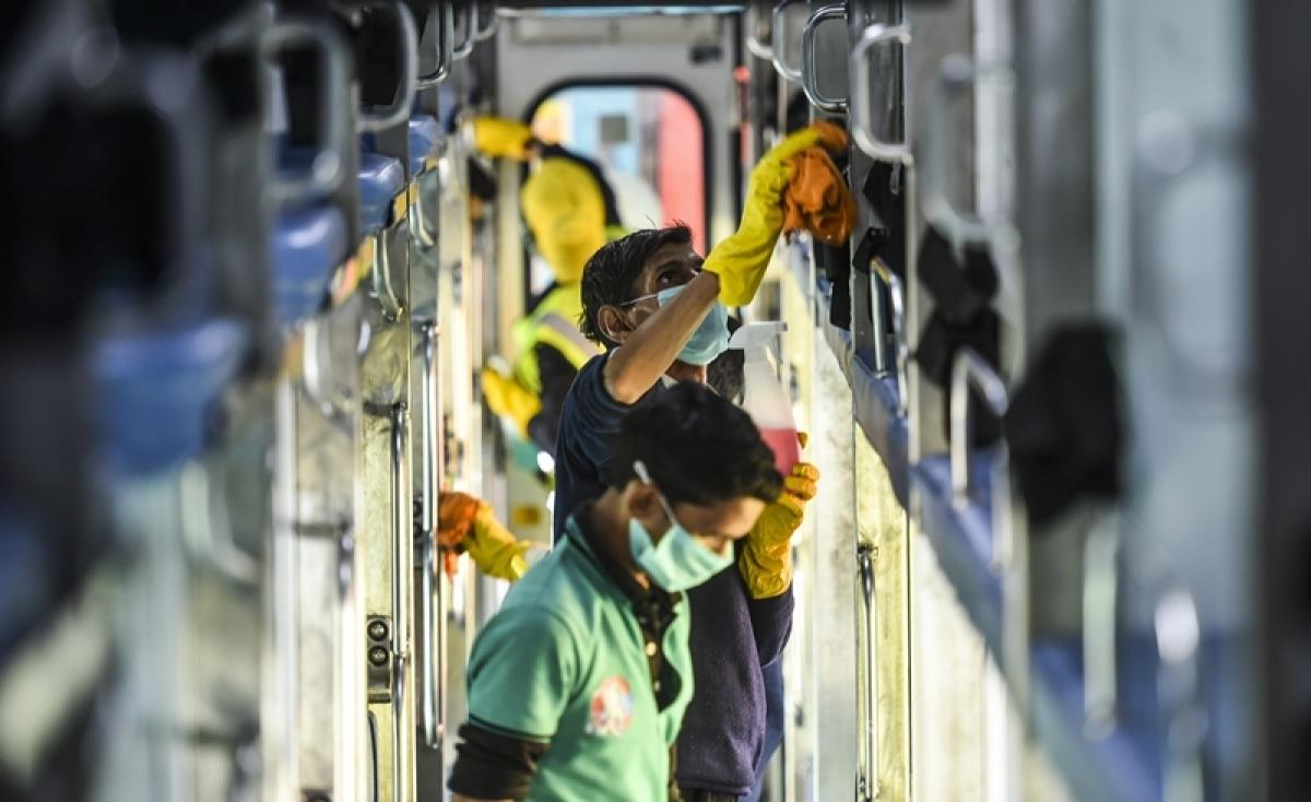Latest coronavirus update: Mumbai Railway start disinfecting locals