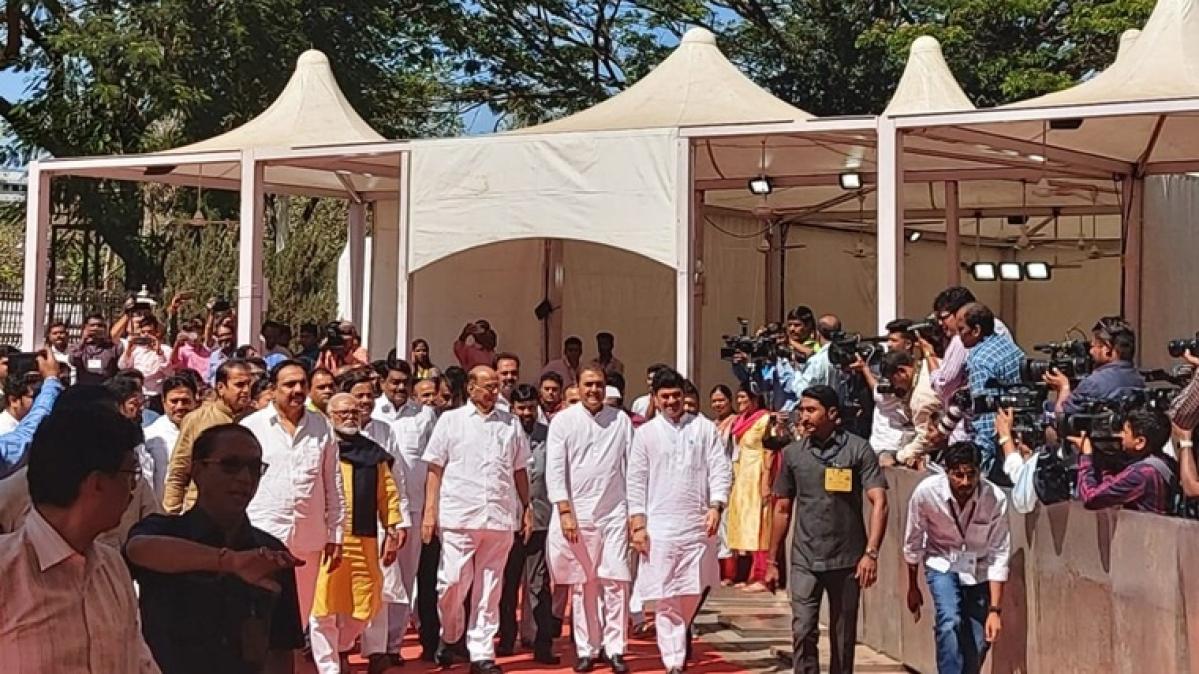 Sharad Pawar arrives at Vidhan Bhavan to file nomination for Rajya Sabha election