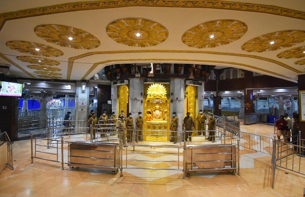 Siddhivinayak Temple shut
