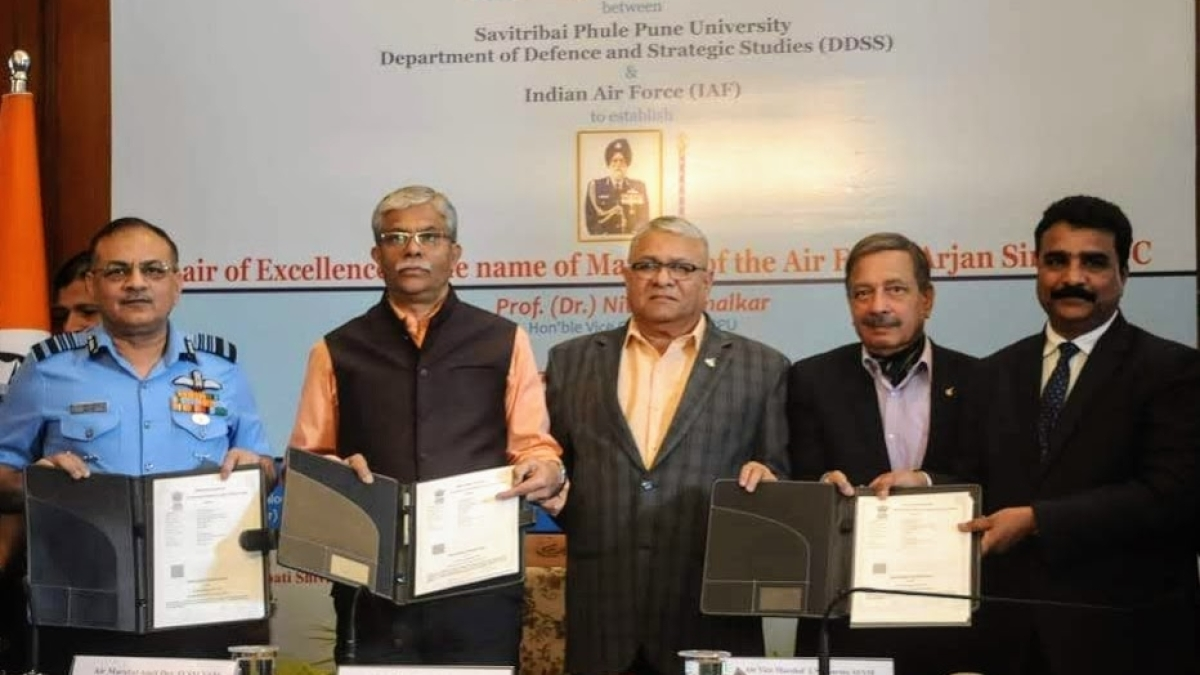 IAF, Savitribai Phule Pune University sign MoU