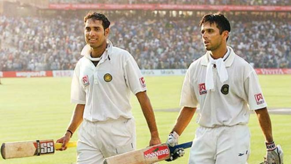 VVS Laxman and Rahul Dravid (R) forged 376 run-stand for fifth wicket to help India overcome a fragile first innings 274 runs trail.