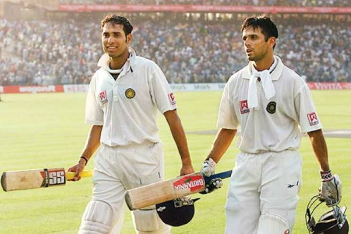 VVS Laxman and Rahul Dravid (R)