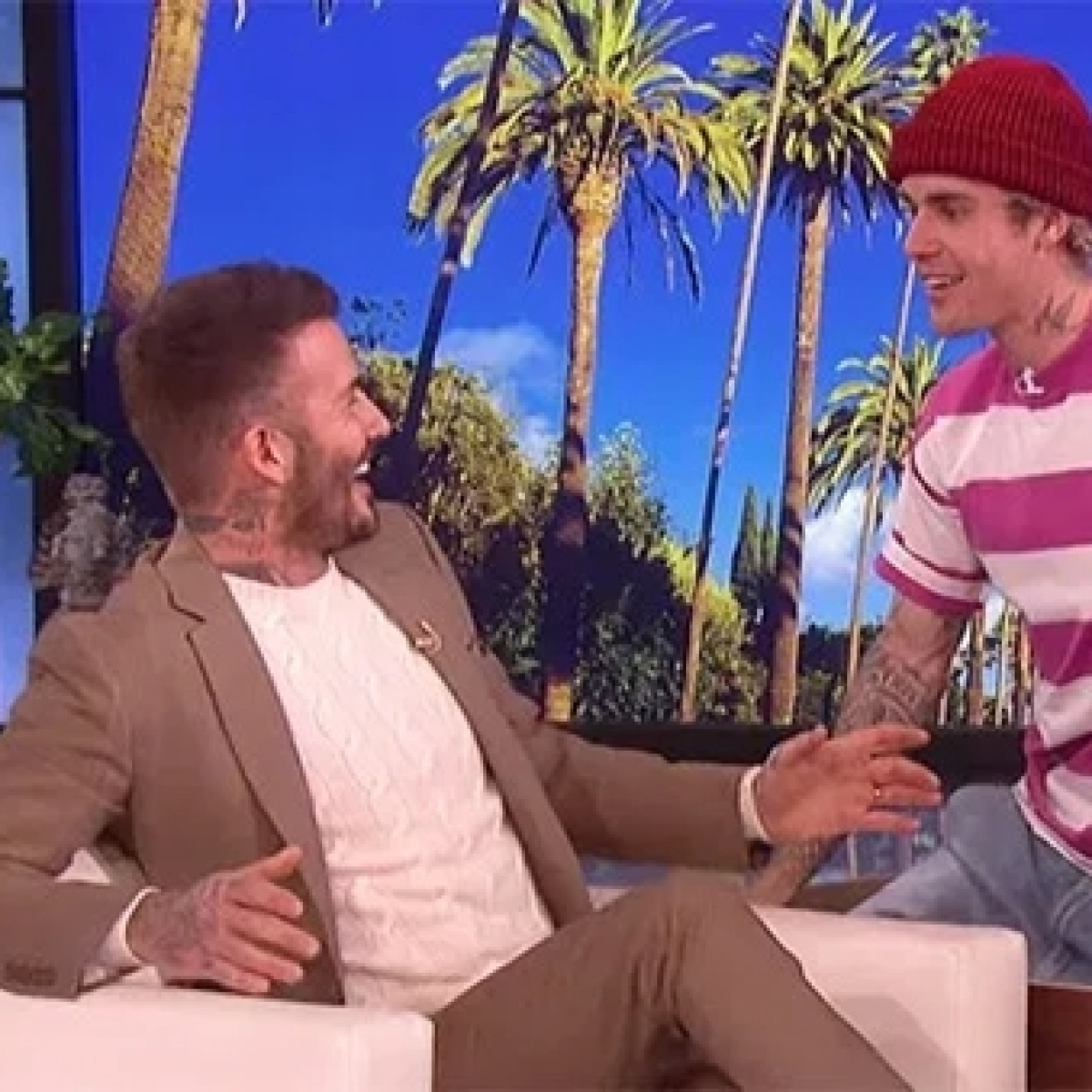 Watch video: Justin Bieber's attempt to scare David Beckham fails miserably