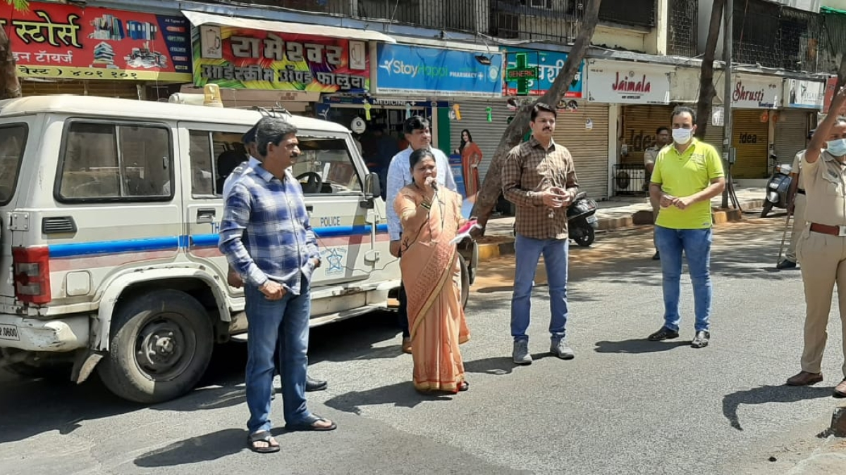 MBMC Mayor Jyotsna Hasnale appealing people to remain indoors.