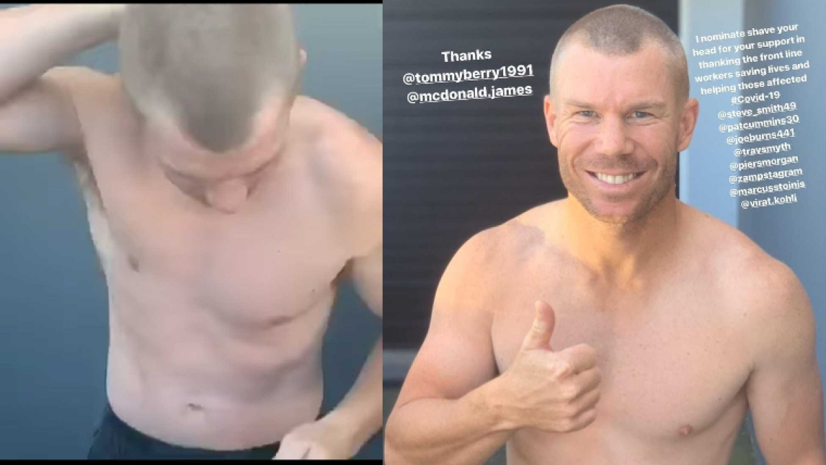 David warner shaves his head, asks Kohli to follow suit - find out why
