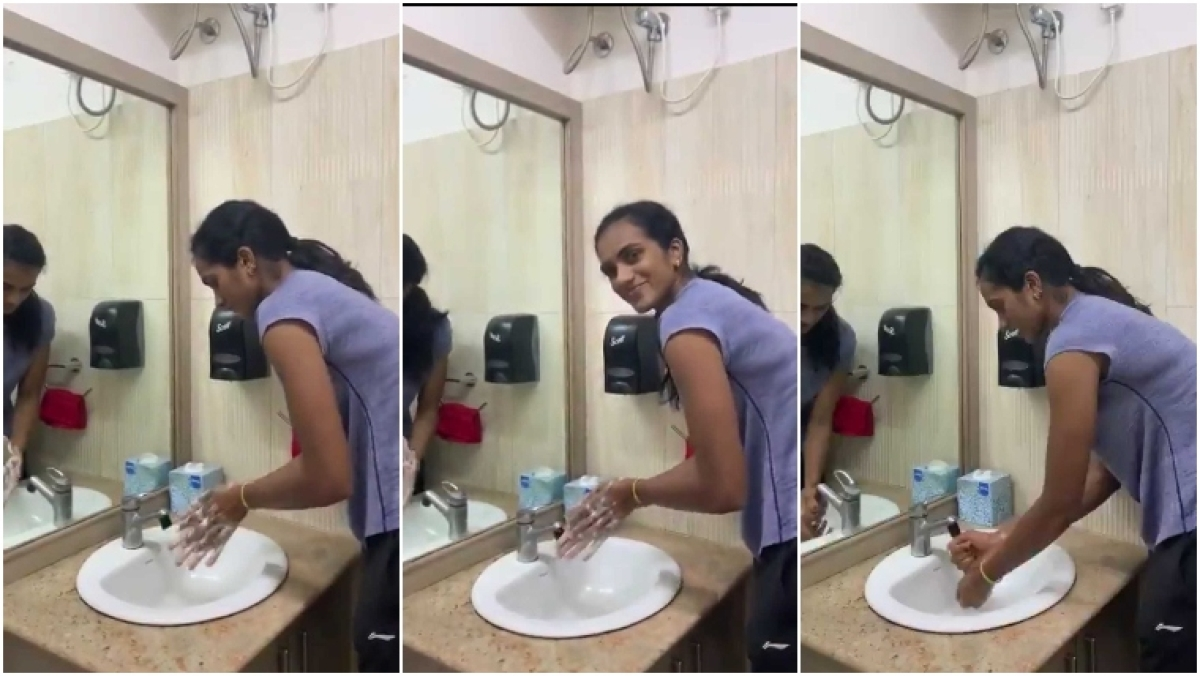 Coronavirus: PV Sindhu takes hand-wash challenge, asks Kohli, Sania and Kiren Rijiju to take it forward