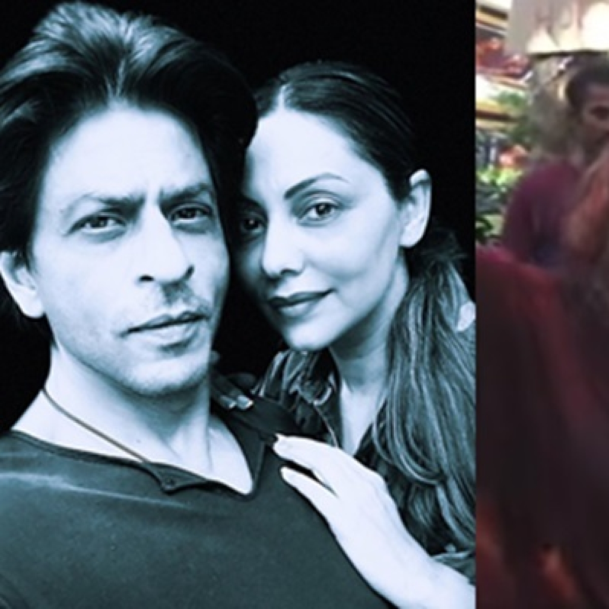 20-year-old video of Shah Rukh Khan dancing with with wife Gauri at Holi bash goes viral