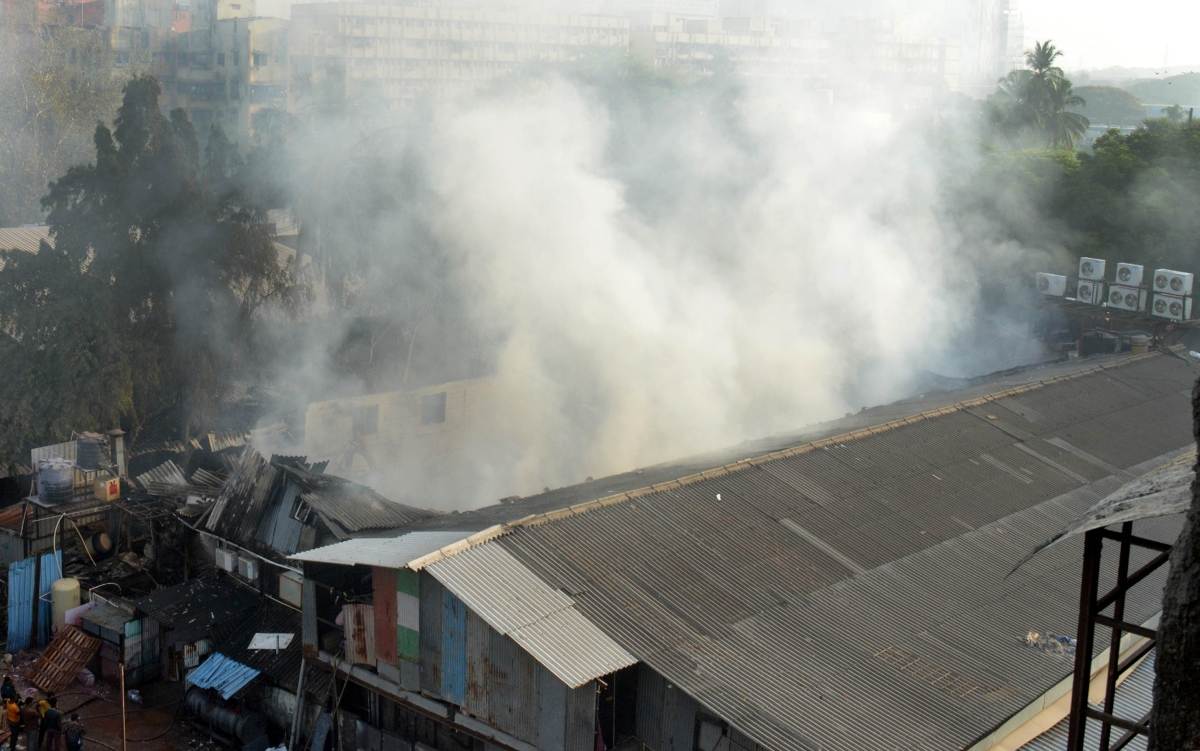 Fire breaks out at a scrap godown in Bhiwandi