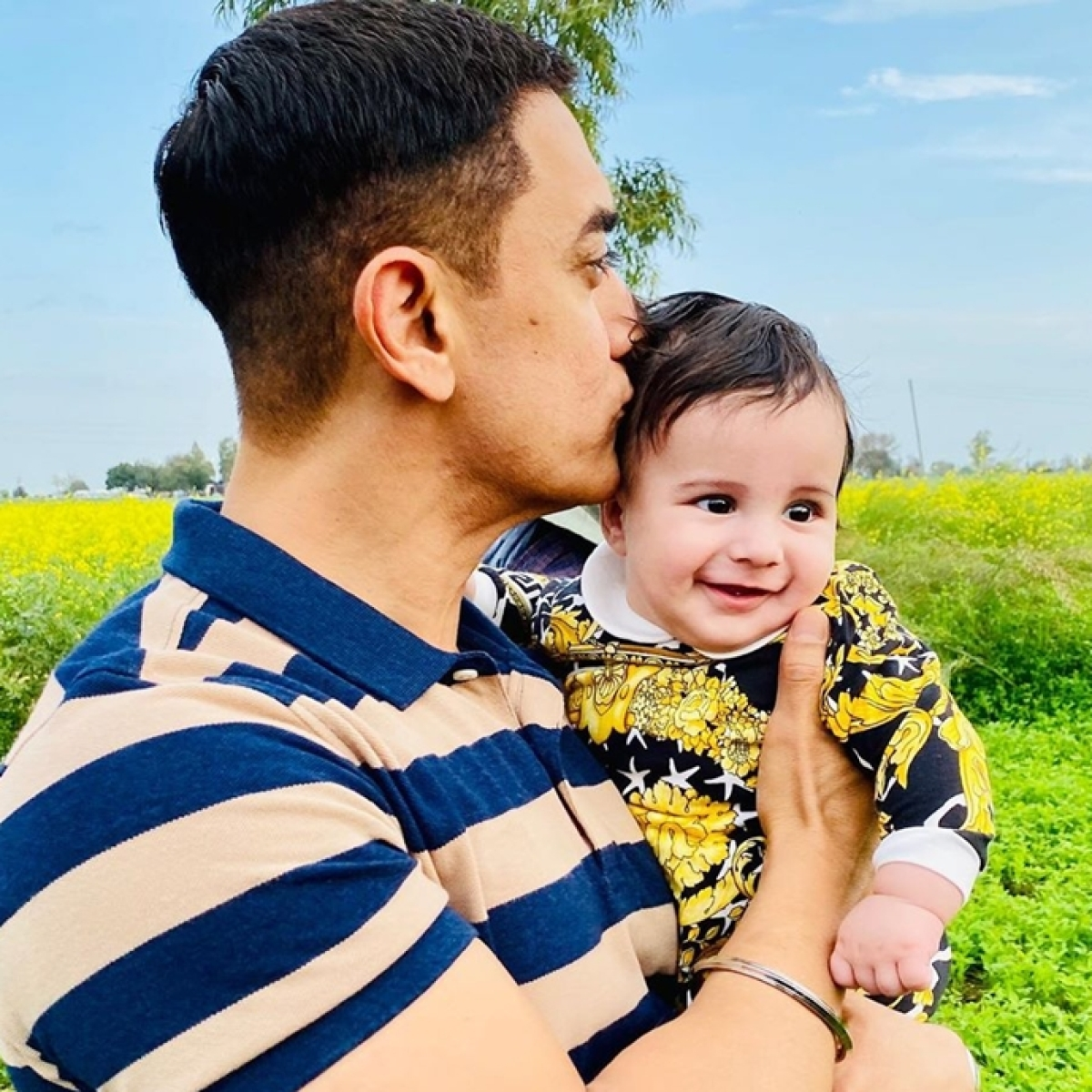Aamir Khan's pic with Gippy Grewal's son is too cute to handle!