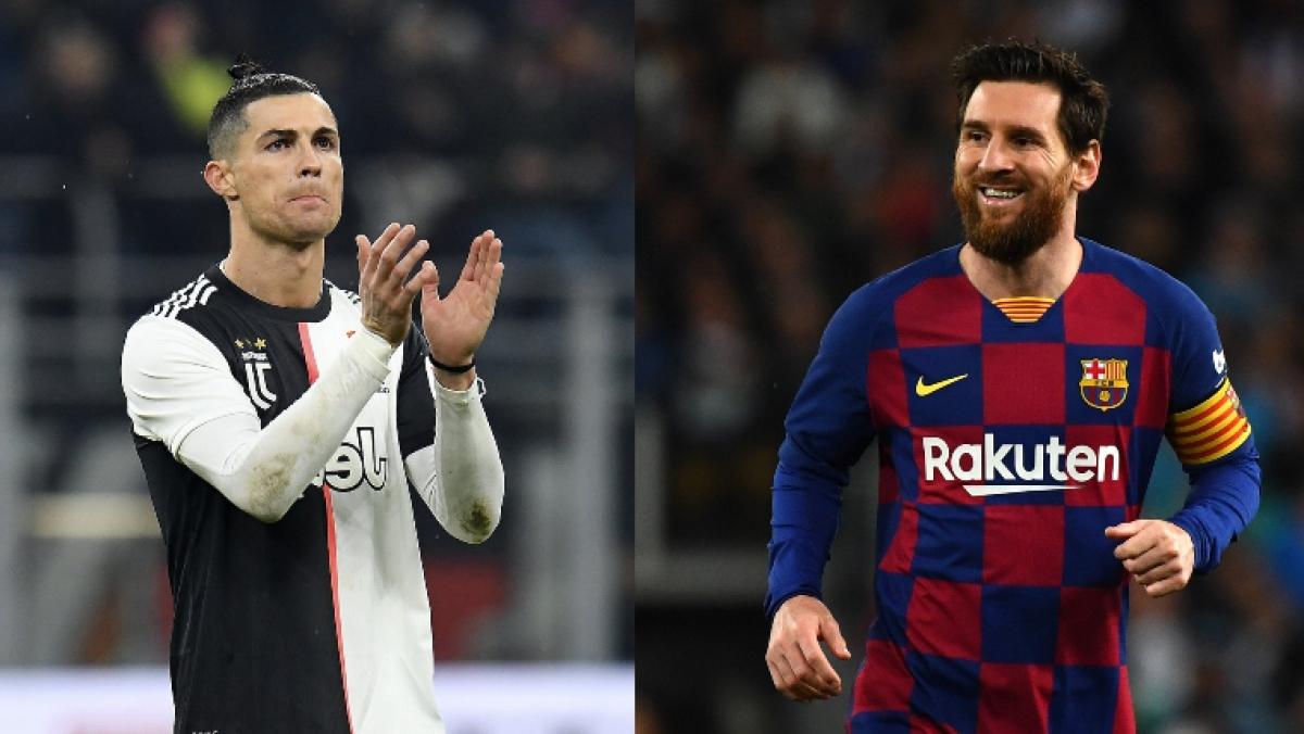 Cristiano Ronaldo (L), Lionel Messi