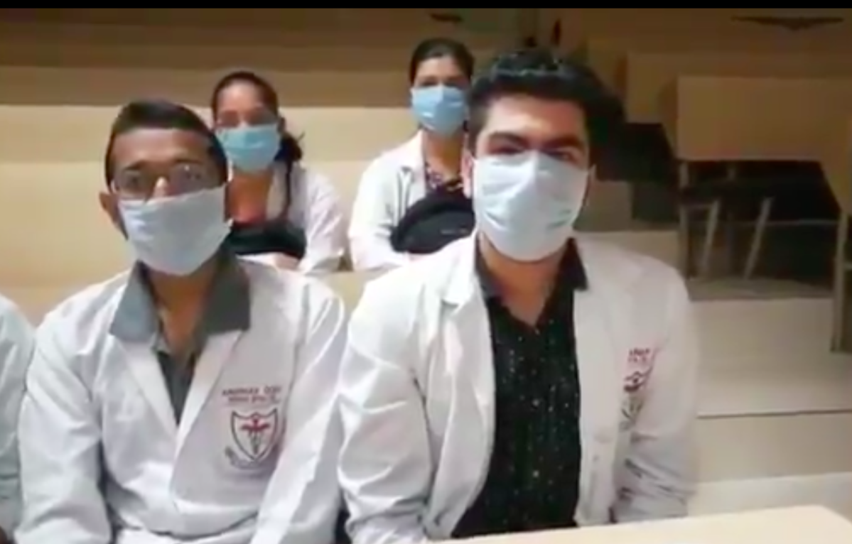 A screen grab of the students