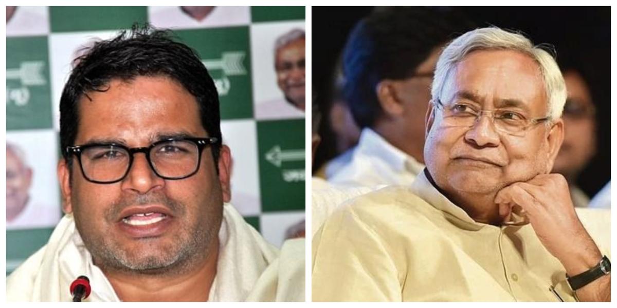 Prashant Kishor and Bihar CM Nitish Kumar (R)