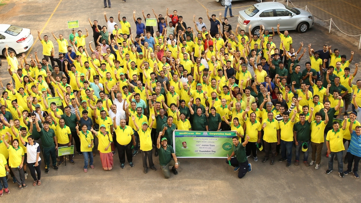 Corporation Bank organises 'Walkathon' on 115th Foundation Day