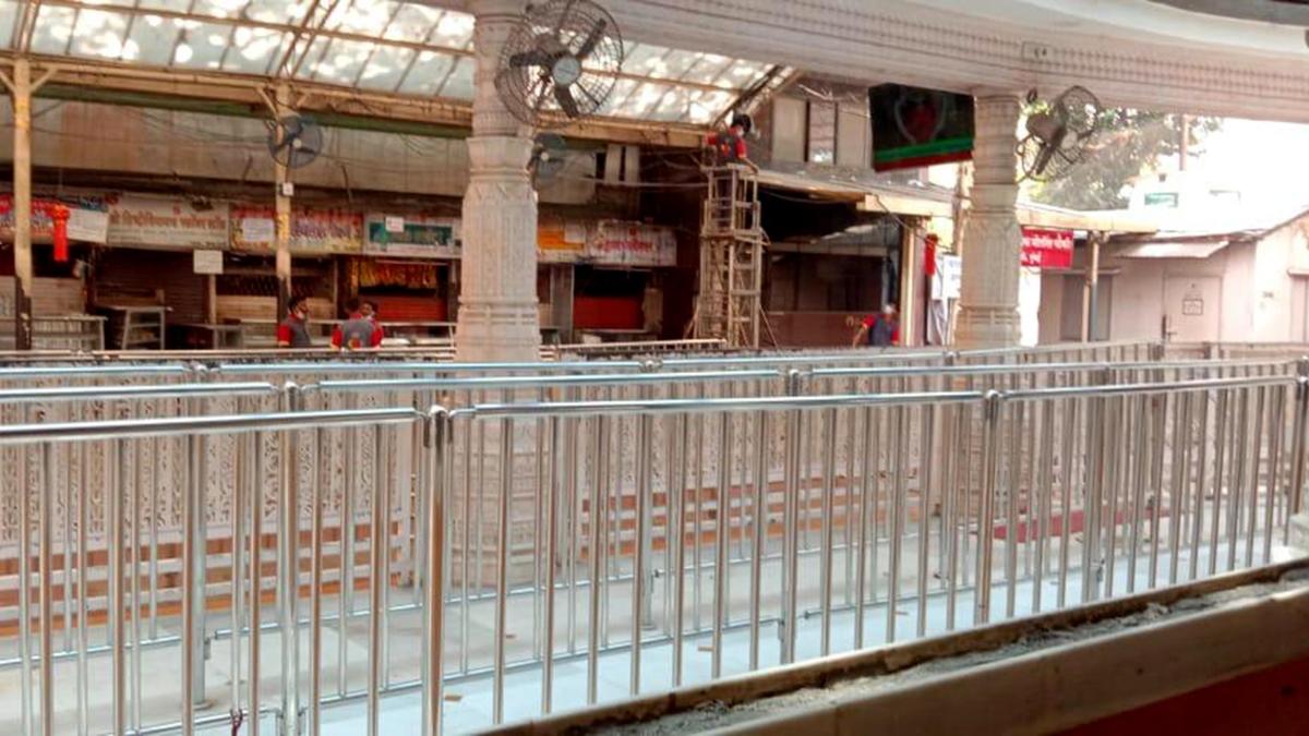 Siddhivinayak Tample closed at Prabhadevi