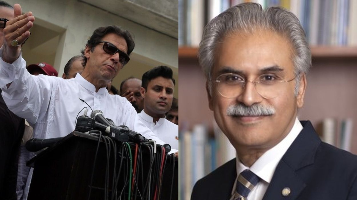 Imran Khan and Dr Zafar Mirza