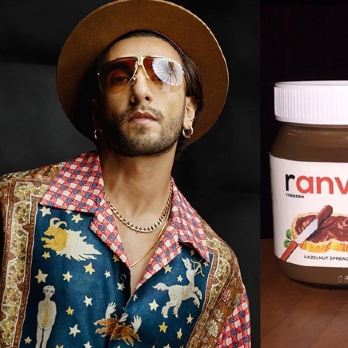 'Khao piyo, masst raho': Ranveer Singh shares self quarantine message with Nutella jars named after him!