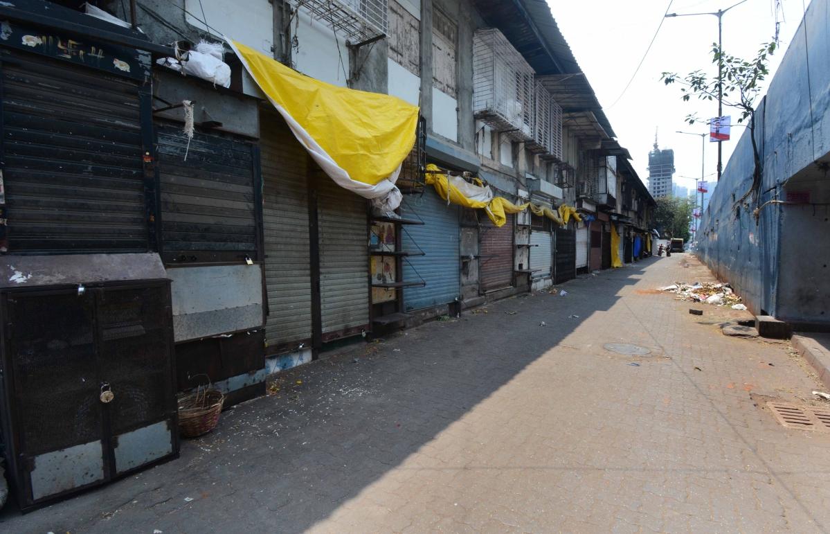 Empty streets at Dadar market.