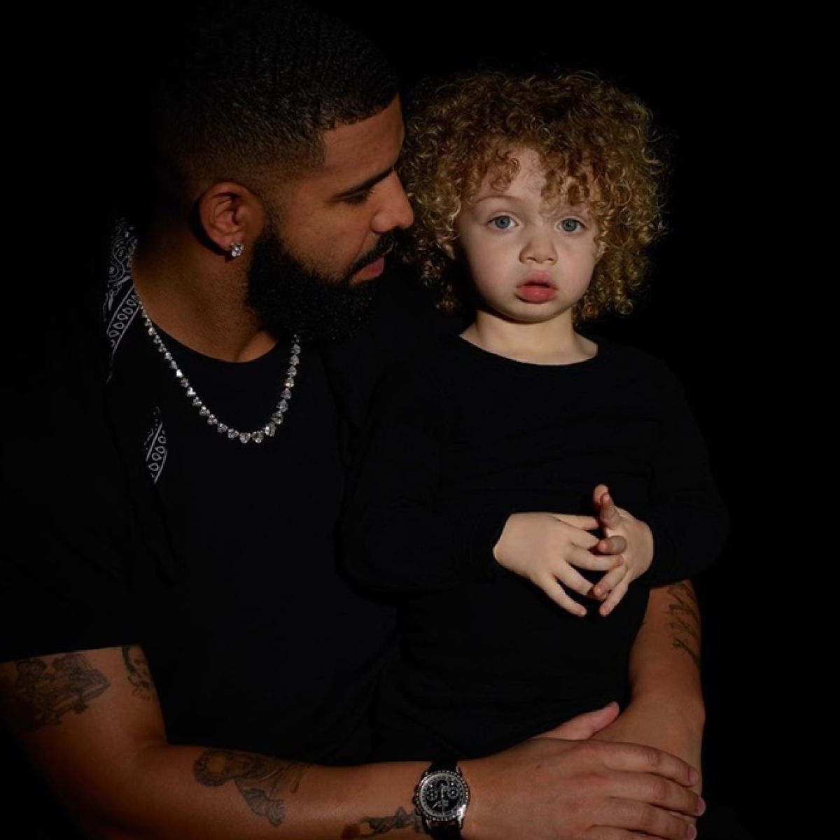 Drake shares first-ever pictures of 2-year-old son Adonis while self-isolating