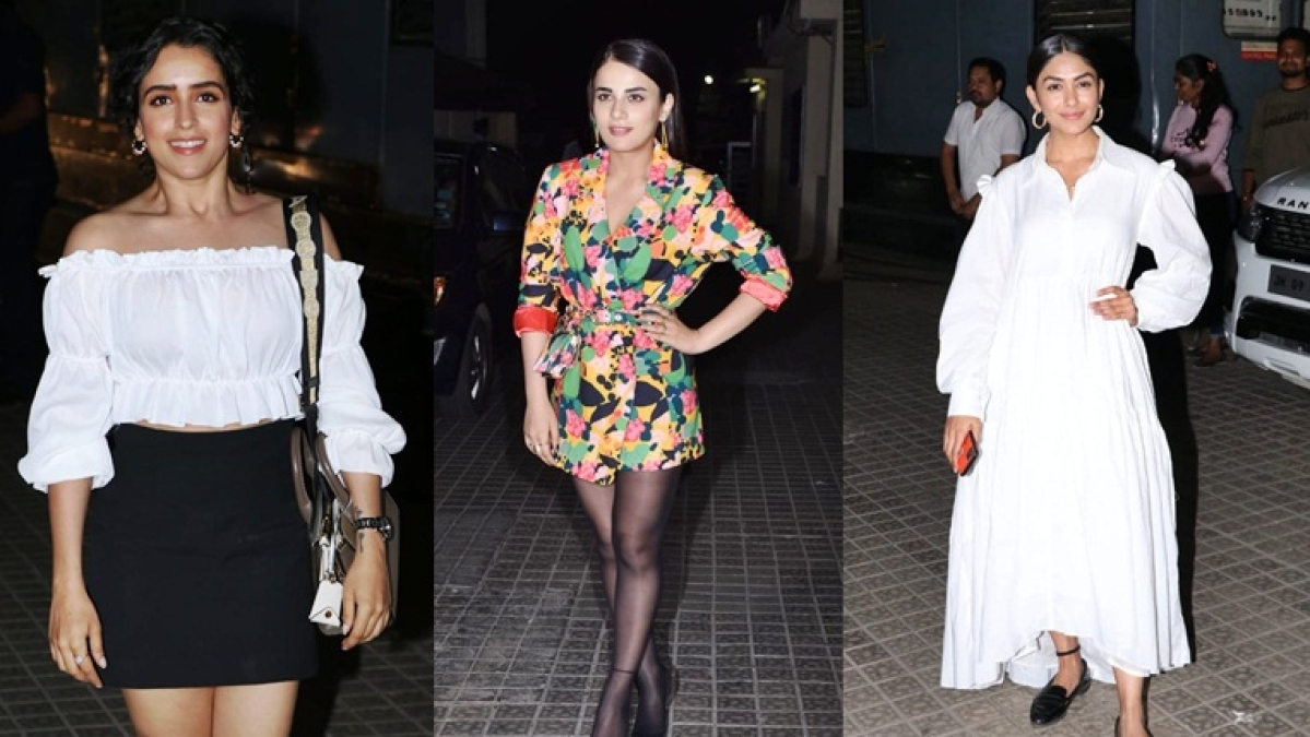 In Pics: Radhika, Sanya, Rakul Preet, Mrunal and others snapped at 'Angrezi Medium' screening