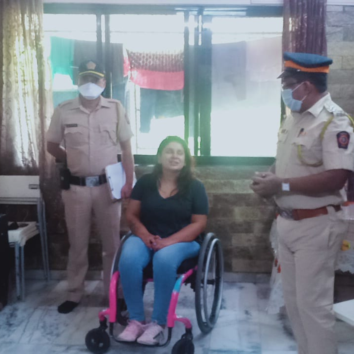 Coronavirus in Mumbai: How Mumbai cops helped a disabled woman during lockdown