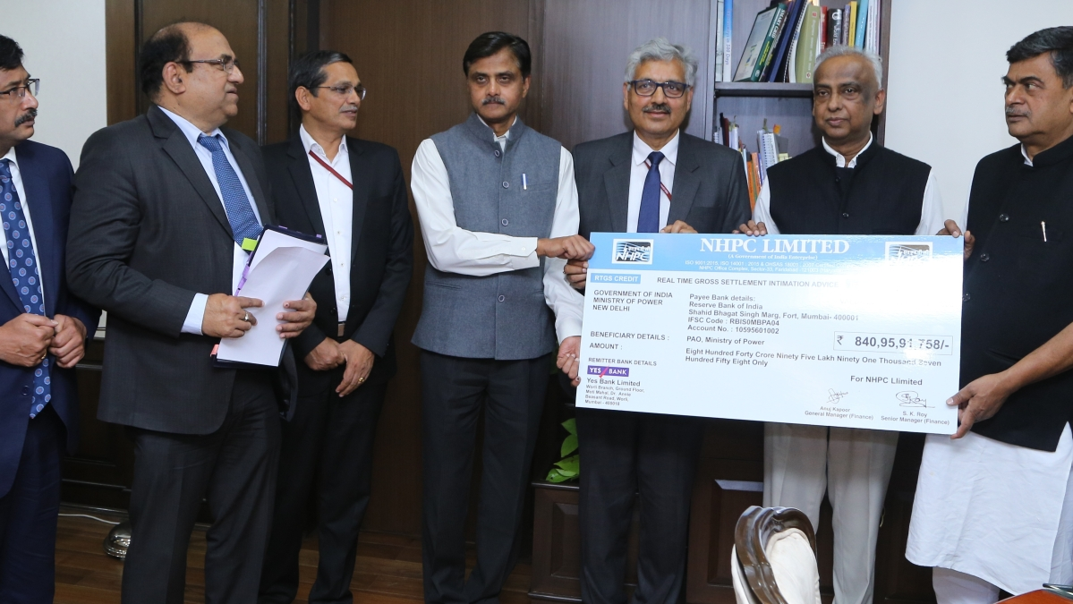 NHPC pays Rs. 840.96 crore interim dividend to government