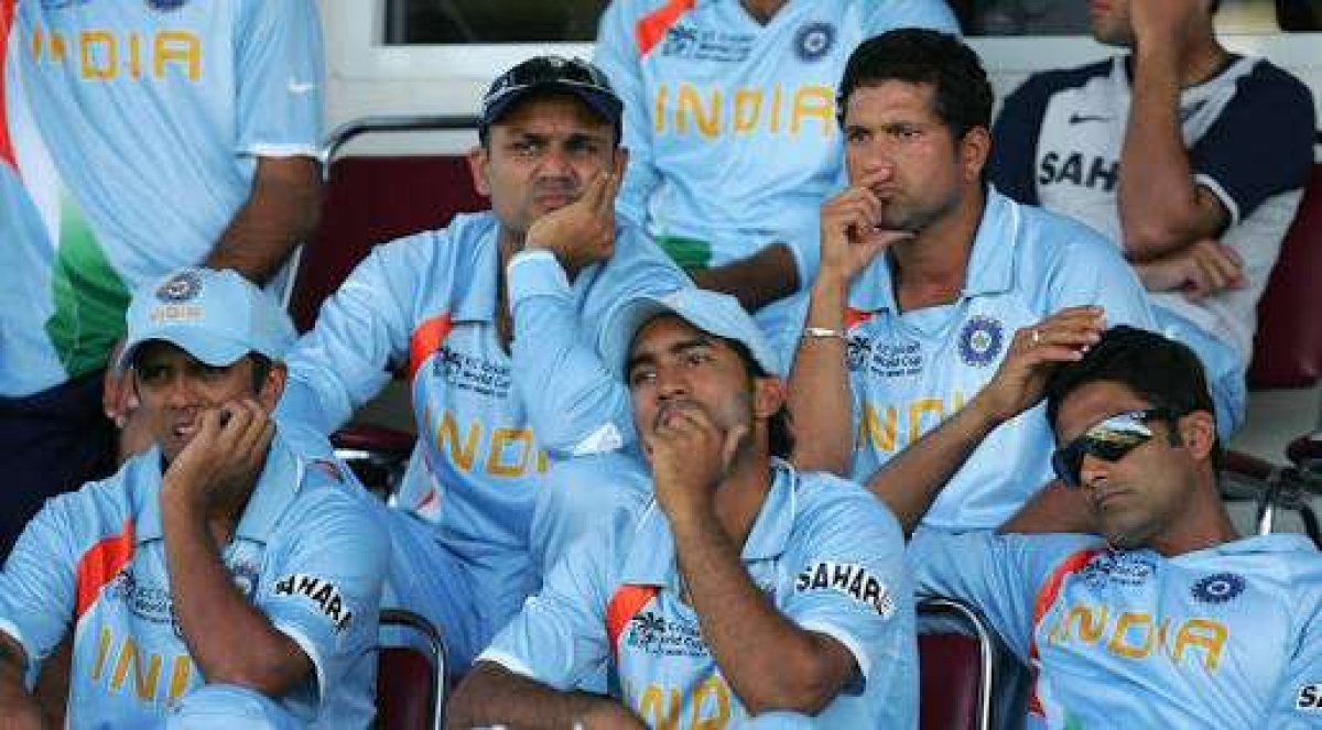 Team India lost 2007 World Cup opening maatch against Bangladesh.