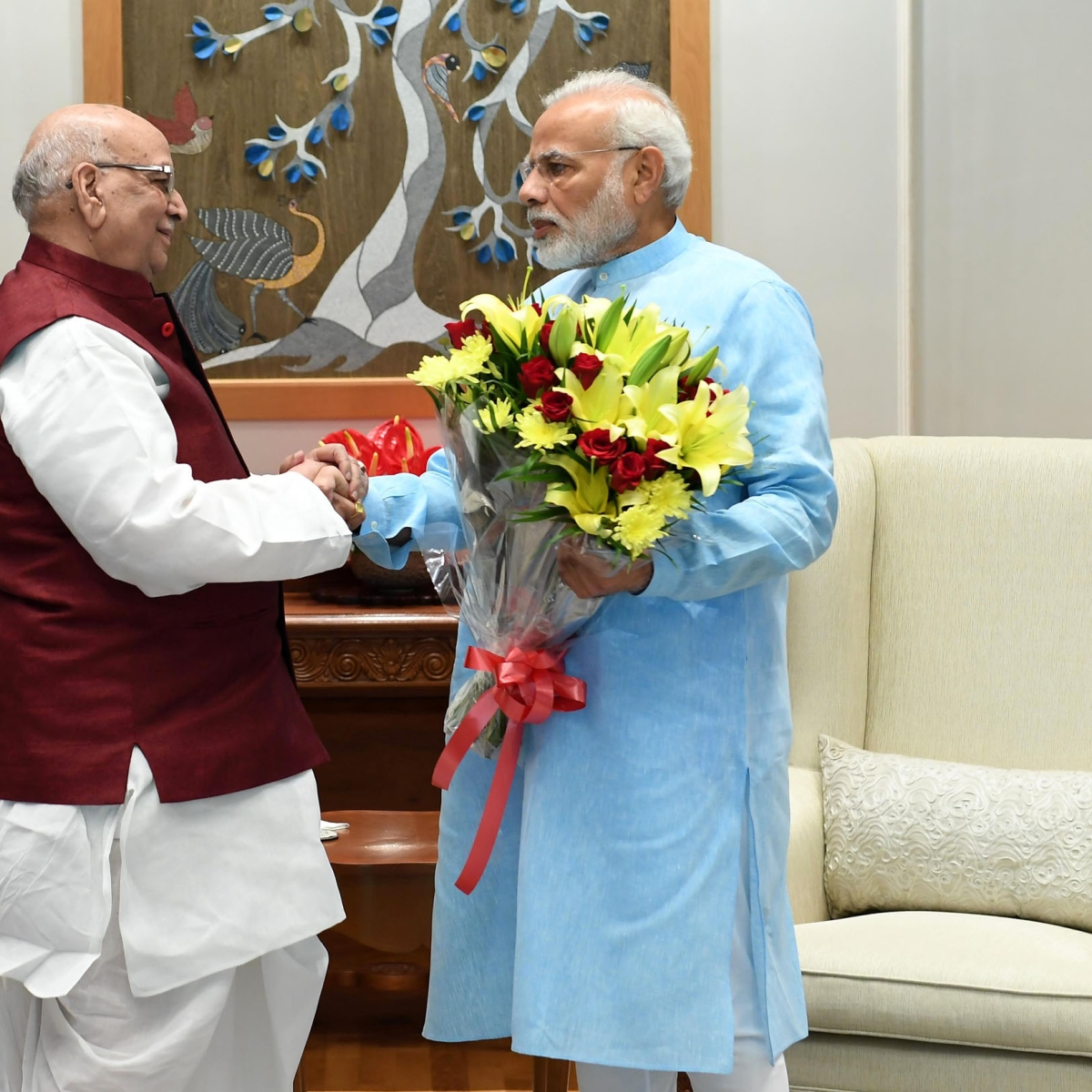 MP Governor Lalji Tanodn donates Rs 10 lakh each to PM and CM relief fund