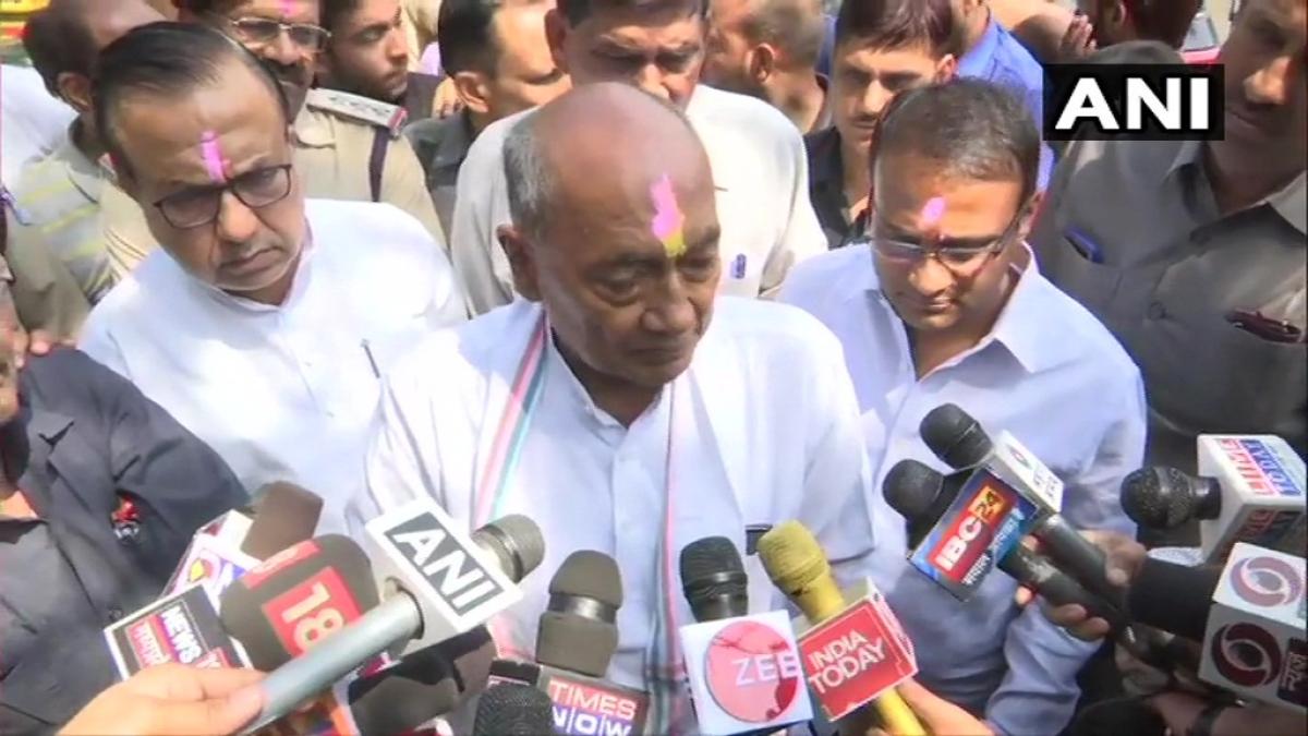 Madhya Pradesh government crisis: BJP arranged 3 chartered planes to Bengaluru, claims Cong leader Digvijaya Singh
