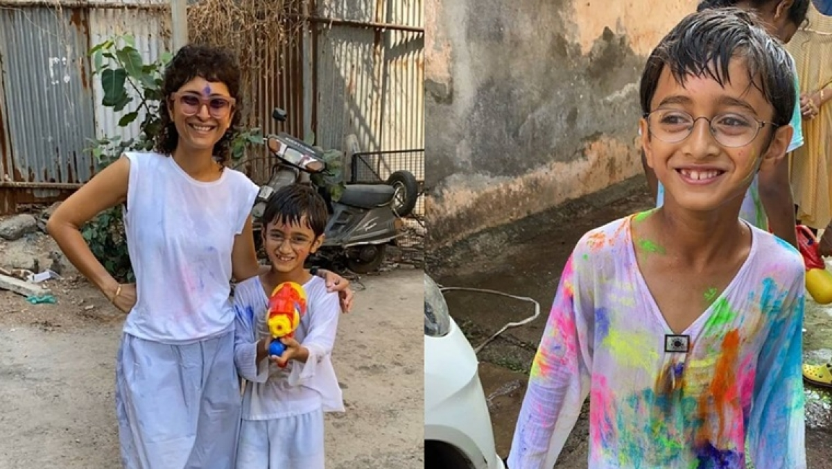 'Holi Mubarak': Aamir Khan shares adorable pictures with wife Kiran and son Azad
