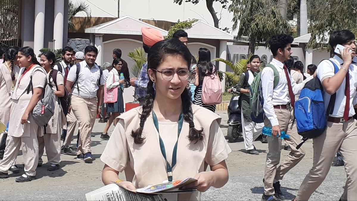 Students at the examination centre  ( File photo)