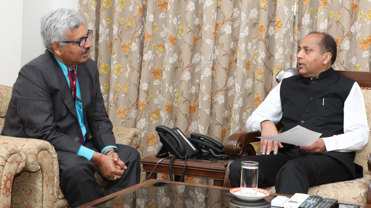 NHPC CMD meets Chief Minister of Himachal Pradesh