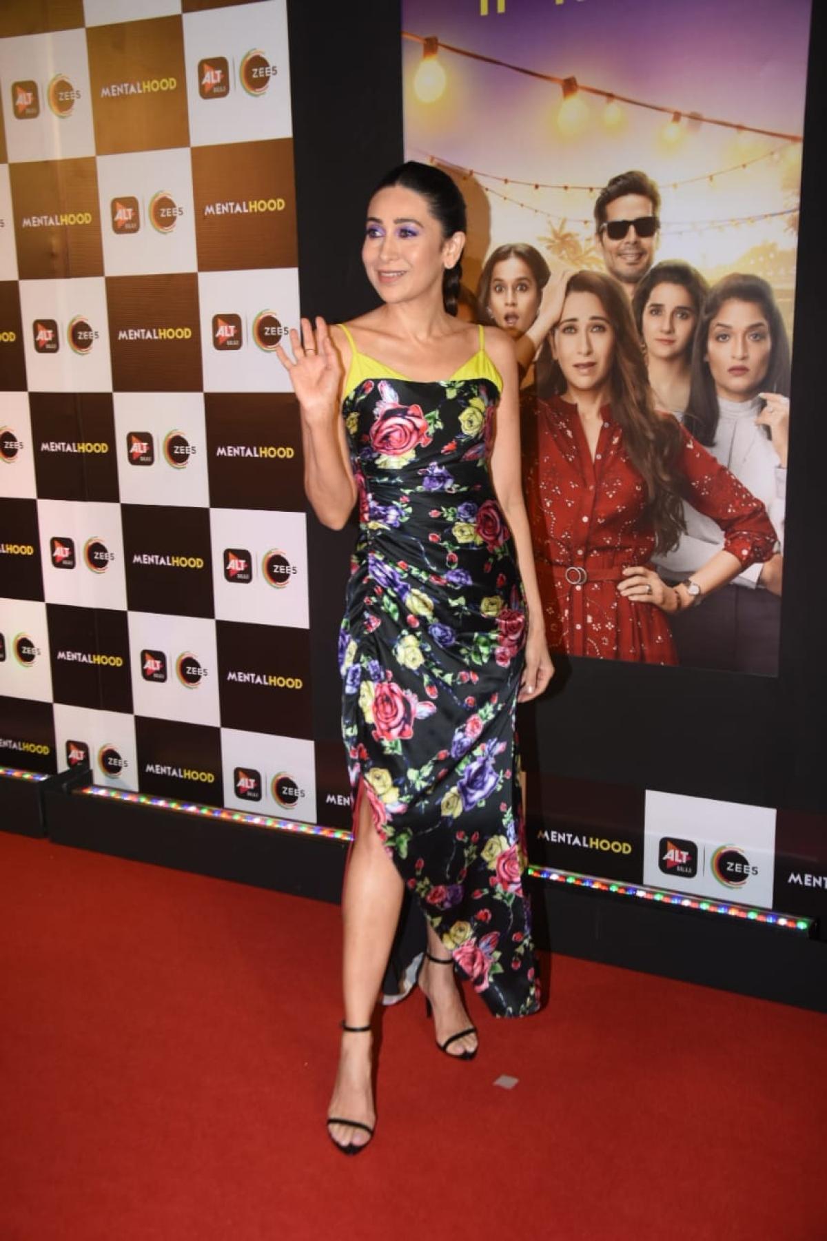 Watch Video: Babita Kapoor imitates daughter Karisma Kapoor's 'Mentalhood' poster