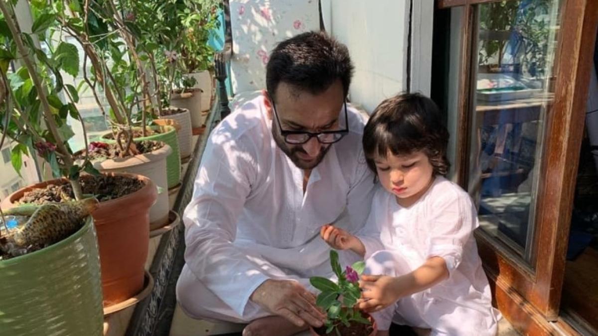 Kareena Kapoor shares adorable pic of Saif, Taimur Ali Khan 'doing their bit' amid coronavirus outbreak