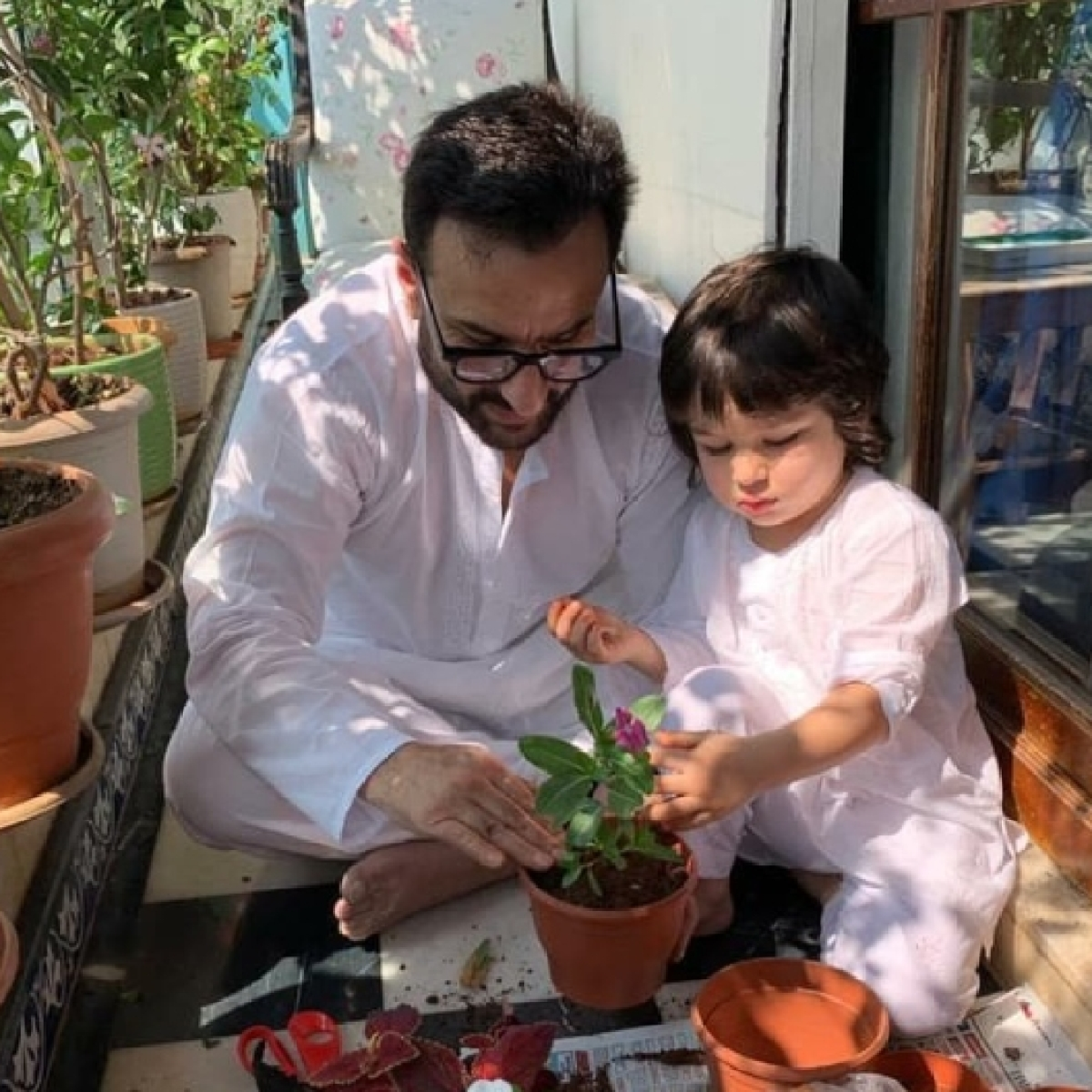 Kareena Kapoor shares adorable pic of Saif, Taimur Ali Khan 'doing their bit' amid coronavirus outbreak