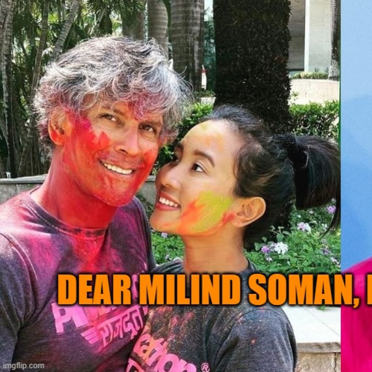 Dear Milind Soman, you are cancelled for swimming with Sanghis at the age of 10, please pick up your shorts and leave