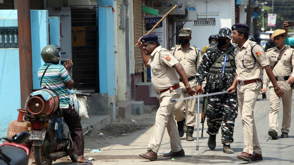 Police brutality competes with coronavirus as cops lathi-charge ...