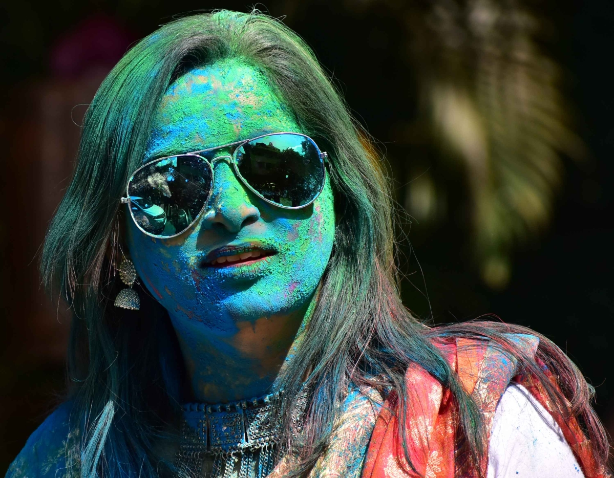 Holi celebration at Shivaji Park in Mumbai