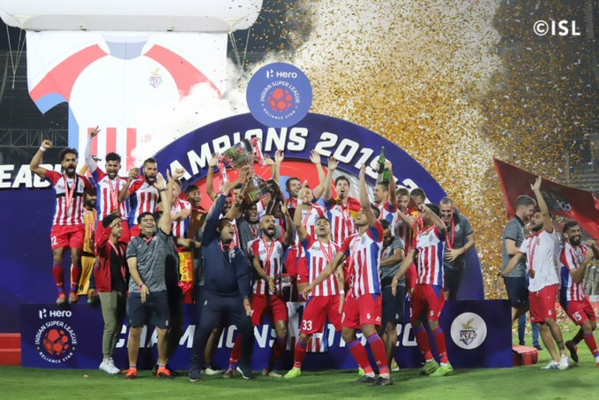 ATK lifted the 2019-20 Hero Indian Super League trophy following a 3-1 win against Chennaiyin FC  at Jawaharlal Nehru Stadium on Saturday.