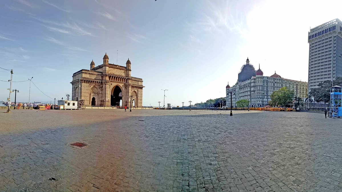 Gateway of India in Mumbai during coronavirus pandemic.