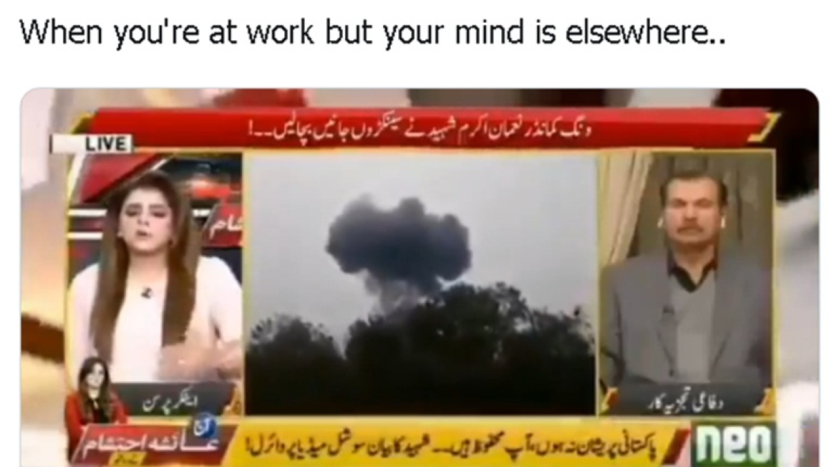 Pakistani anchor trolled for saying F-16 jet's pilot didn't 'ejaculate' before crash