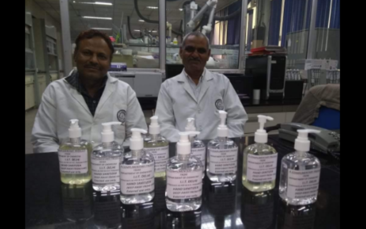 Coronavirus update in India: Facing shortage, IIT Delhi's Chemistry dept creates its own hand sanitiser