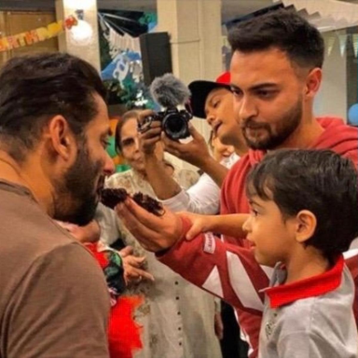 Ahil feeds mamu Salman Khan cake on his 4th birthday amid quarantine