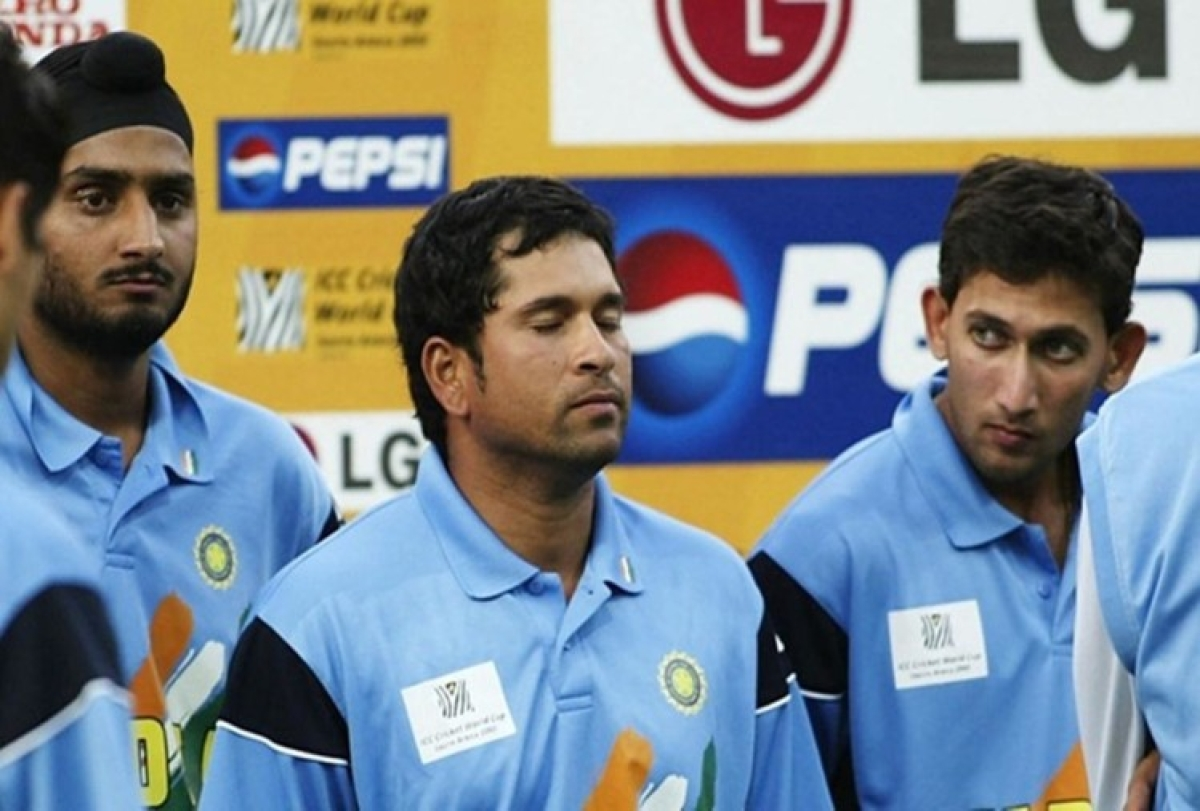 Sachin Tendulkar's reaction after India lost to Australia in 2003 ICC World Cup finals at Johannesburg, South Africa.