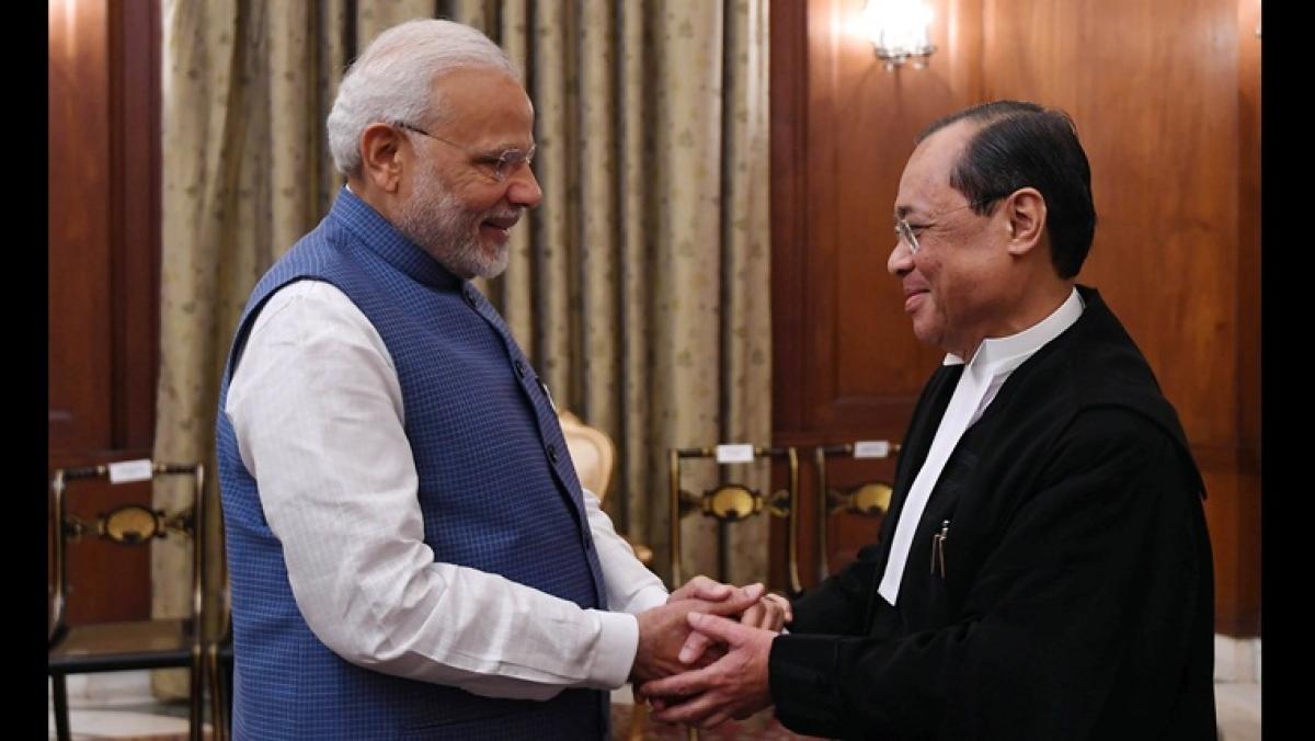 PM Modi and former CJI Gogoi