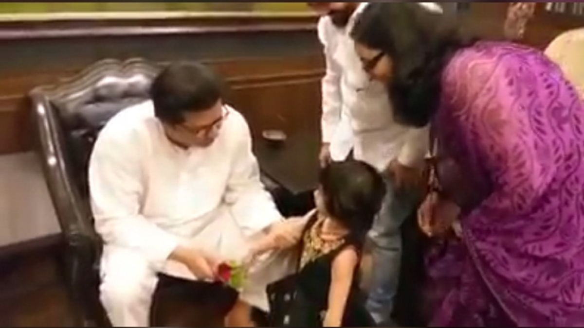 Watch: Raj Thackeray shows his softer side while hanging out with 3-year-old girl