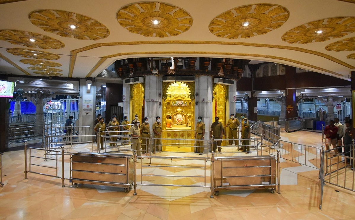 Siddhivinayak Temple closed at Prabhadevi amid coronavirus pandemic.